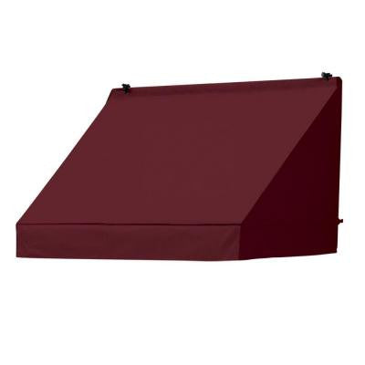 4 ft. Classic Manually Retractable Awning (Projection 26.5 in.) in Burgundy