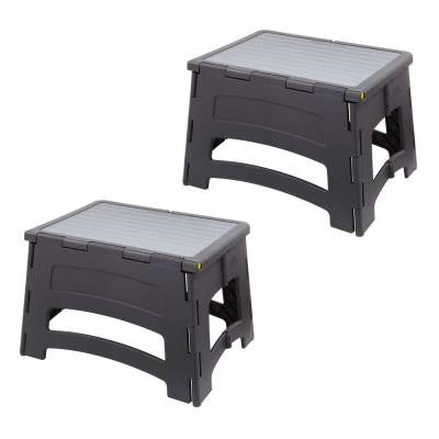 1-Step Plastic Folding Step Stool Ladder with a 300 lb. Capacity (2-Pack)