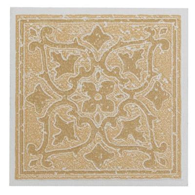 Vinyl 4 in. x 4 in. Self-Sticking Motif Wall/Decorative Wall Tile in Sandstone Accent (27 Tiles Per Box)