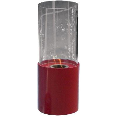 10 in. Dia Tabletop Ethanol Red Doopio Rouge Fireplace