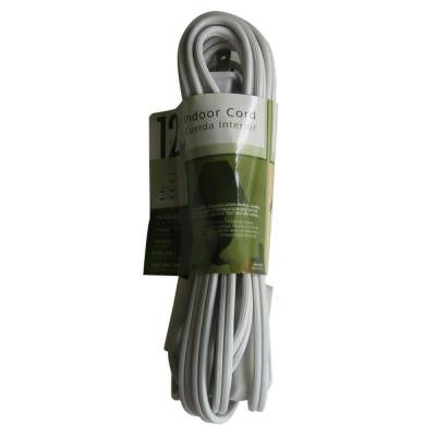 12 ft. 16/2 SPT-2 Cube Tap Extension Cord - White