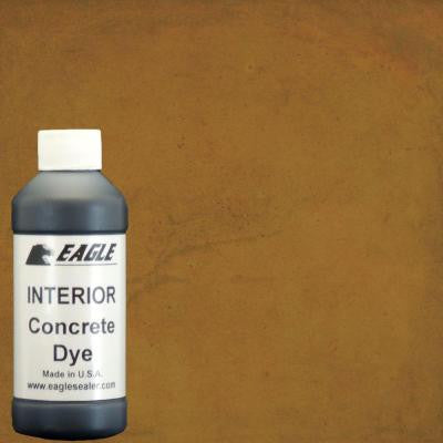 1-gal. Warm Honey Interior Concrete Dye Stain Makes with Water from 8 oz. Concentrate