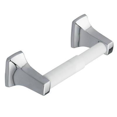 Contemporary Double Post Toilet Paper Holder in Chrome