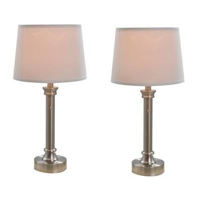 Bedside Table Lamp Twin Pack