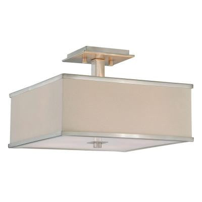 Menlo Park 4-Light Brushed Nickel Semi-Flush Mount