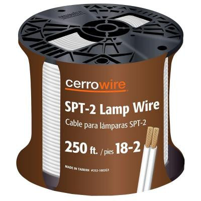 250 ft. 18-Gauge 2 Conductor Lamp Wire - White