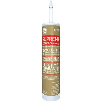 Supreme Silicone 10.1-oz. Clear Kitchen and Bath Caulk