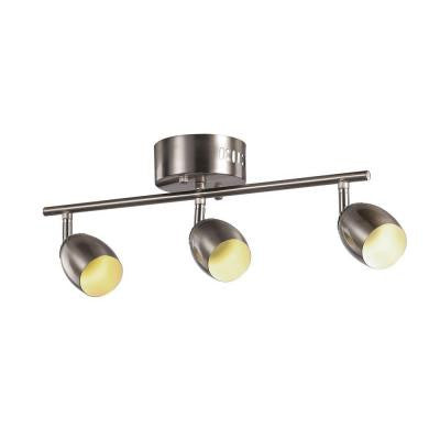3-Light Brushed Nickel LED Track Light