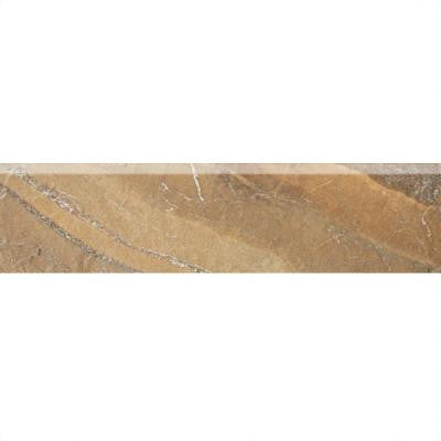 Ayers Rock Bronzed Beacon 3 in. x 13 in. Glazed Porcelain Bullnose Floor and Wall Tile