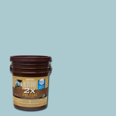 5 gal. 2X Blue Sky Solid Deck Stain with NeverWet