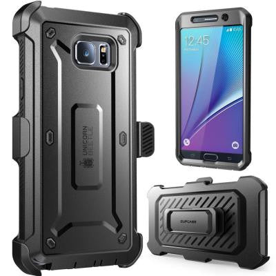 Galaxy Note 5 Unicorn Beetle Pro Case with Screen Protector - Black