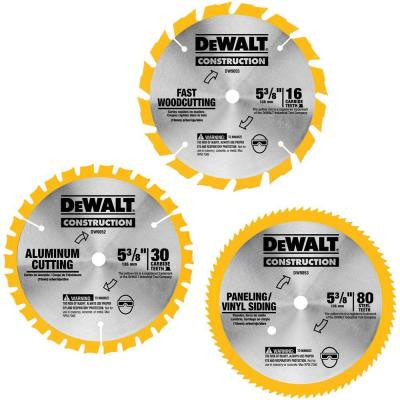 5-3/8 in. Dia Saw Blade Combo Pack for DW9052, DW9053, DW9054