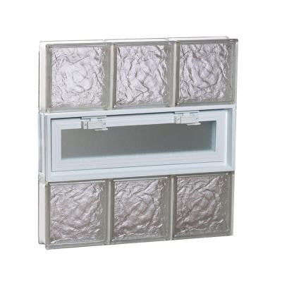 23.25 in. x 23.25 in. x 3.125 in. Vented Ice Pattern Glass Block Window