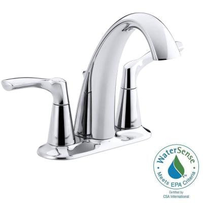 Mistos 4 in. Centerset 2-Handle Bathroom Faucet in Polished Chrome