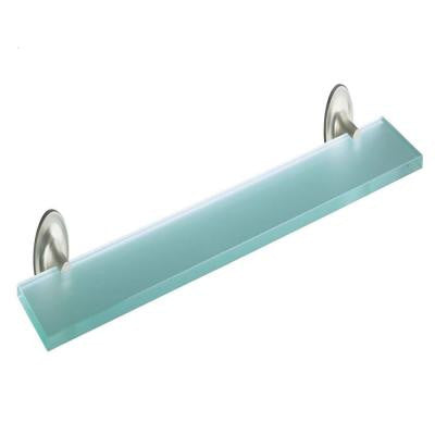 Purist 22 in. W Shelf in Glass and Vibrant Brushed Nickel