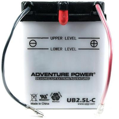 Conventional Wet Pack 12-Volt 2.5 Ah Capacity O Terminal Battery