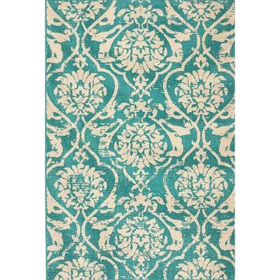 Caterina Turquoise 5 ft. 3 in. x 7 ft. 6 in. Area Rug