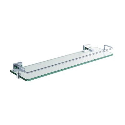 Aura 20.1 in. W Shelf in Glass and Railing in Polished Chrome