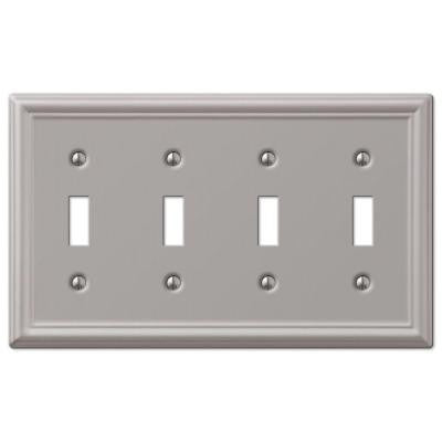 Chelsea 4 Toggle Wall Plate - Brushed Nickel