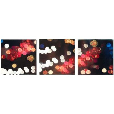 Brevium 12 in. x 38 in. Luminescense Panels Metal Wall Art (Set of 3)