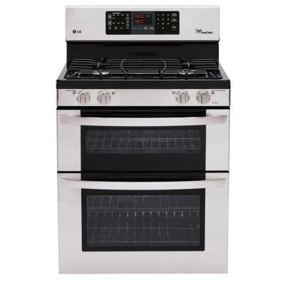 6.1 cu. ft. Double Oven Gas Range with EasyClean Self-Cleaning Oven in Stainless Steel