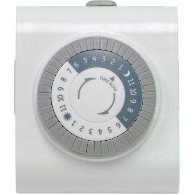 15-Amp 24-Hour Plug-In Heavy Duty Mechanical Timer with 2-Outlet