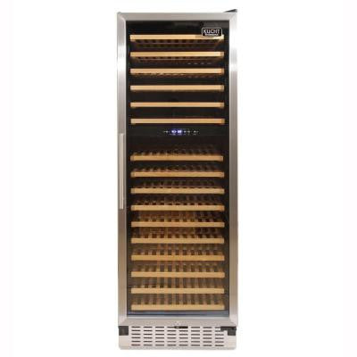 166-Bottle Dual Zone Wine Cooler Built-In with Sixteen (16)-Shelves and Compressor in Stainless Steel