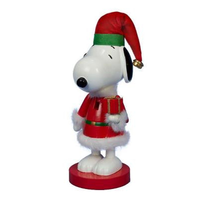 10 in. Snoopy in Red Santa Suit Nutcracker