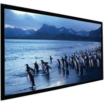 150 in. Stratus Series Pearl White Fixed-Frame Screen