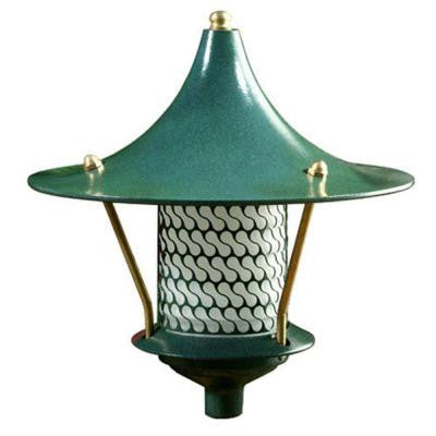Corbin 1-Light Green Flair Top Outdoor Pagoda Pathway Light