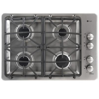 Profile 30 in. Deep Recessed Gas Cooktop in Stainless Steel with 4 Burners