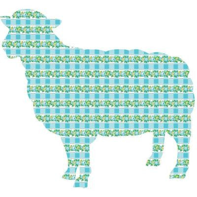 26 in. x 24 in. Betty the Lamb Wall Decal