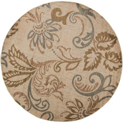 Ceratonia Lime 8 ft. x 8 ft. Round Indoor Area Rug