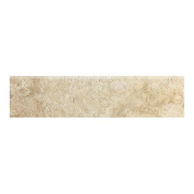 Artea Stone 3 in. x 13 in. Avorio Porcelain Bullnose Floor and Wall Tile