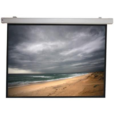 106 in. Arcus Series Pearl White Motorized Screen