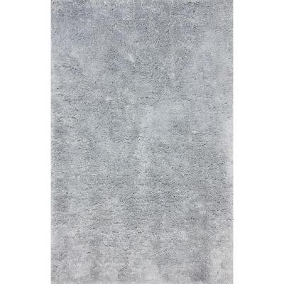 Maginifique Shag Light Grey 6 ft. x 9 ft. Area Rug