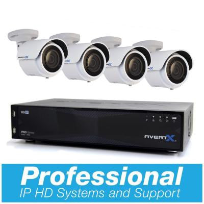 PRO 8-Channel HD+ IP Surveillance System with 6TB and (4) 4MP Mini Bullet Cameras and Night Vision