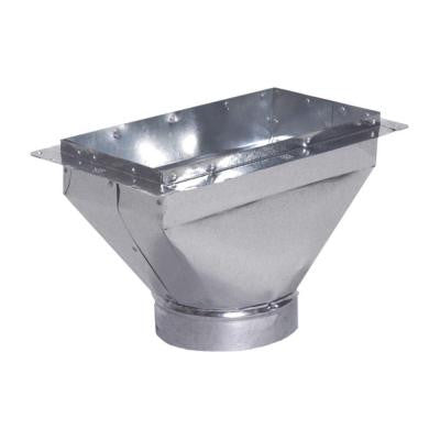 14 in. x 6 in. to 7 in. Universal Register Box with Flange