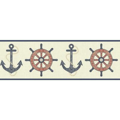 6.75 in. Nautical Living Nautical Spot Border