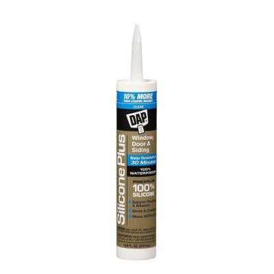 Silicone Plus 10.8 oz. Clear Premium Window, Door and Siding Sealant (12-Pack)