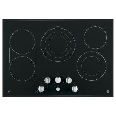 Cafe 30 in. Radiant Electric Cooktop in Stainless Steel with 5 Elements including Power Boil