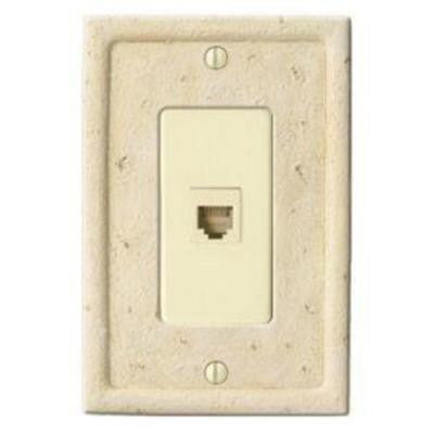 Stone 1 Phone Wall Plate - Ivory