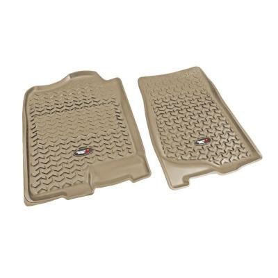 Floor Liner Front Pair Tan 2007-2013 GM Pickup and SUV