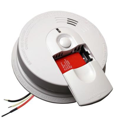 Hardwired 120-Volt Inter Connectable Smoke Alarm with Battery Backup