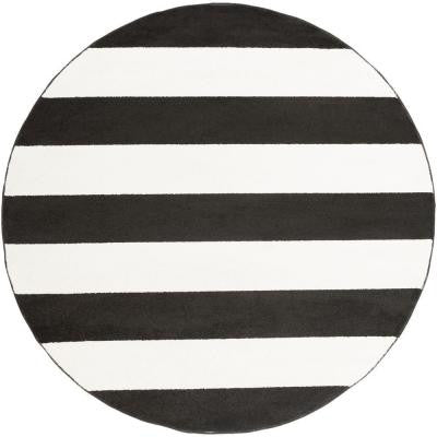 Salem Charcoal 7 ft. 10 in. x 7 ft. 10 in. Round Indoor Area Rug