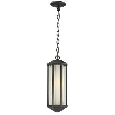 Lawrence 1-Light Outdoor Hanging Oil Rubbed Bronze Incandescent Pendant
