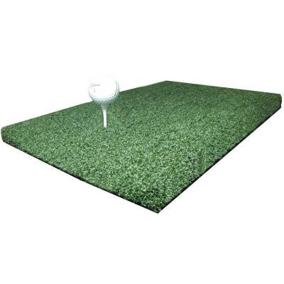 1 ft. x 2 ft. TruLine Ultra Tee Line Emerald Golf Chipping Carpet and Commercial Driving Range Mat - Holds A Wooden Tee