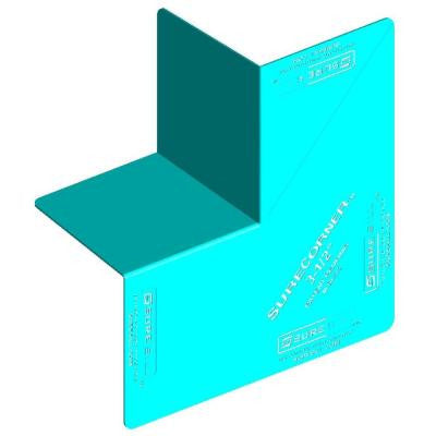 SureCorner 3-1/2 in. x 7 in. Green PVC Flashing for Door and Window. Box of 100 corners.
