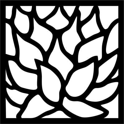 0.3 in. x 22.8 in. x 1.9 ft. Lotus Recycled Plastic Charcoal Wall Art