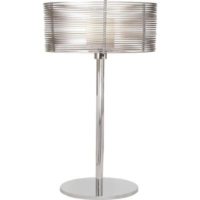 Century 65 in. Chrome and Brilliant Silver Floor Lamp